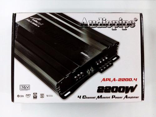amplificador audiopipe 4 canales 2200w apla-2200.4