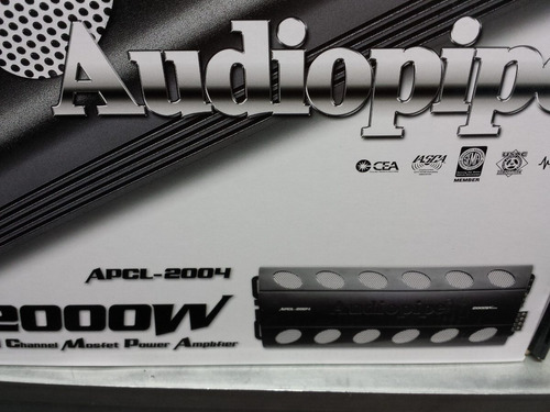 amplificador  audiopipe apcle-2004 2000 watt 4 canales cl ab