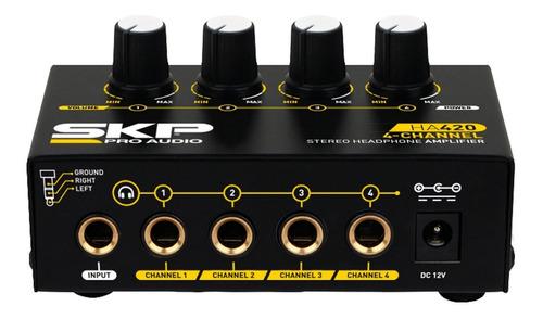 amplificador auricular skp ha 420 1 entrada 4 salidas