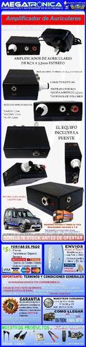 amplificador auriculares estereo c/reg volumen gran potencia