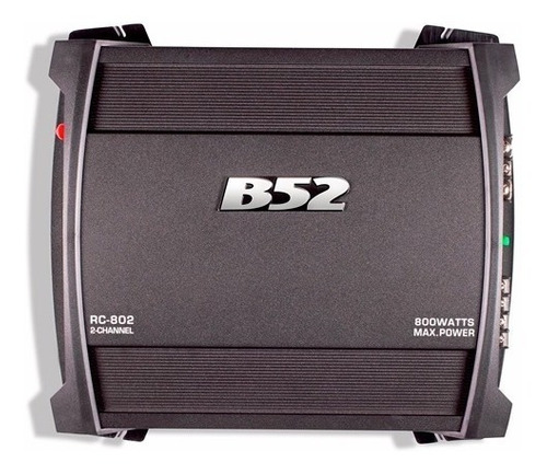 amplificador auto 2 canales max 800w   b52