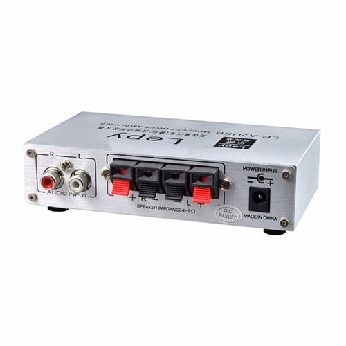 amplificador auto moto 2 x 15w usb control remoto