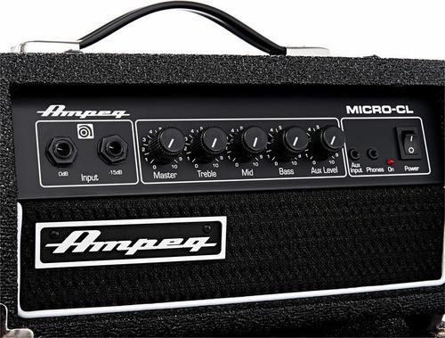 amplificador bajo ampeg 100w micro cl stack