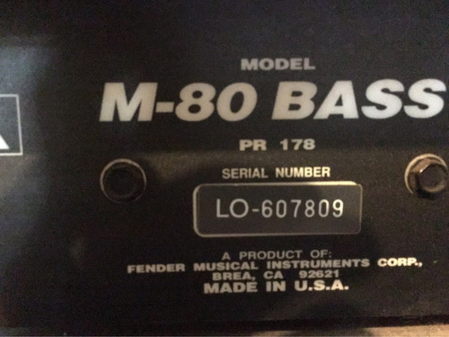 amplificador bajo m80 bass usa 160 watts