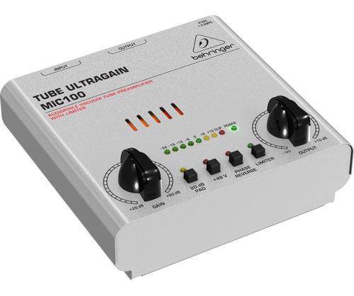 amplificador behringer mic100 tube ultragain  - oddity