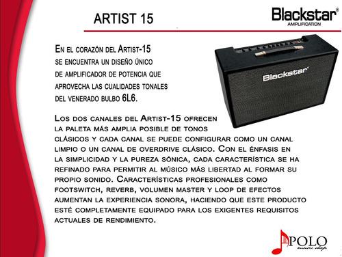 amplificador blackstar artist 15