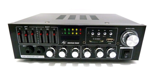 amplificador bluetooth  5 canales ubs radio fm teatro casa