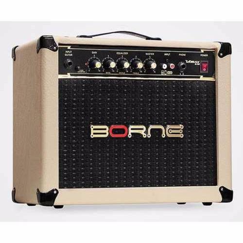 amplificador borne p/ guitarra vorax 630 25w rms creme