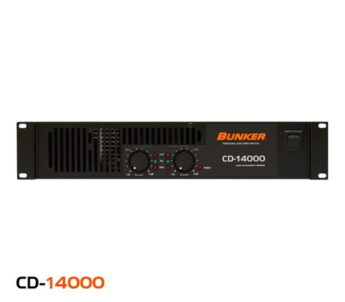 amplificador bunker cd-1400 digital