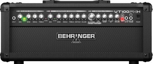 amplificador cabeçote para guitarra behringer vt100 fxh loja