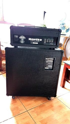 amplificador (cabezal+gabinete) de guitarra hartke piggyback