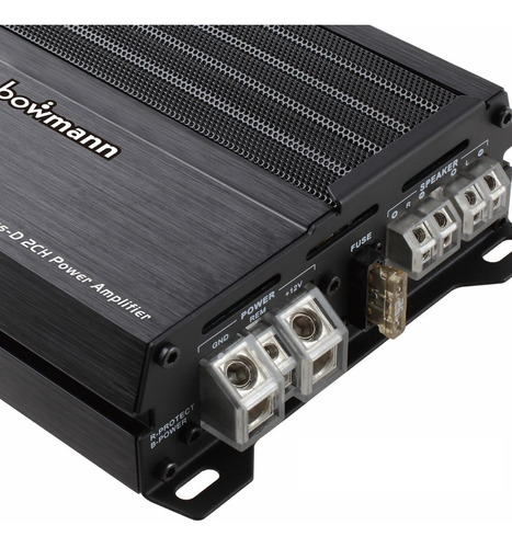 amplificador carro 2 canales planta clase d bowmann ba-2400d