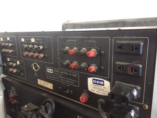 amplificador cce sa-6060 clasico original con todo y polvo