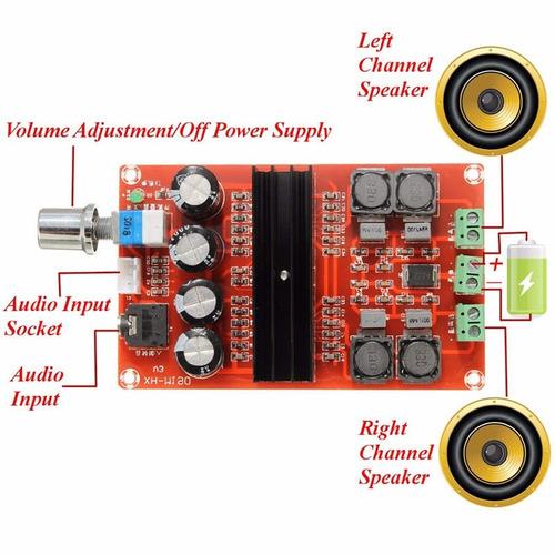 amplificador clase d 2.0 de 200w para auto o moto