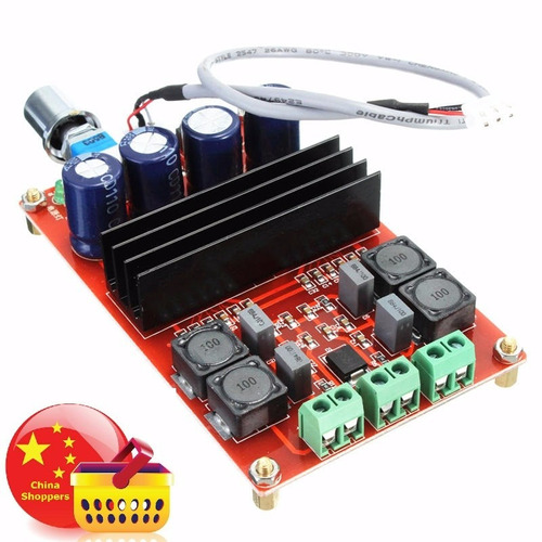 amplificador clase d 2.0 de 200w para autoradio. o casa.
