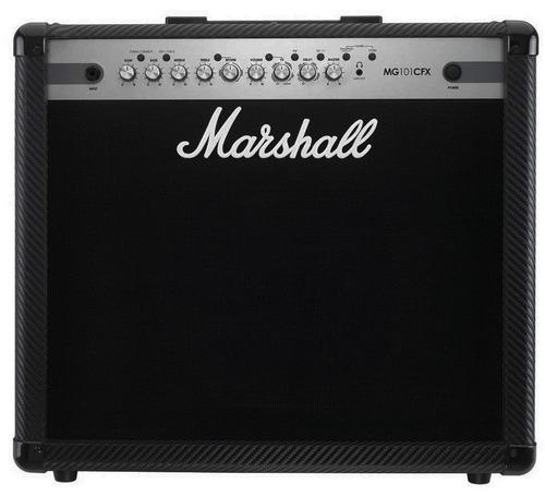amplificador combo p/ guitarra 100w, marshall mg101cfx