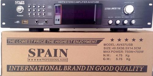 amplificador  con  tuner de 2000 wats usb bluetooth