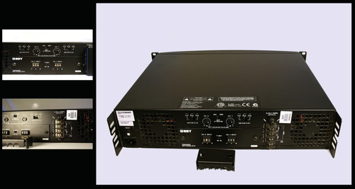 amplificador crown dual 600w a 4, 8 ohms y 70v, cts1200