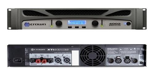 amplificador crown xti 4002 potência 3200w rms garantia + nf