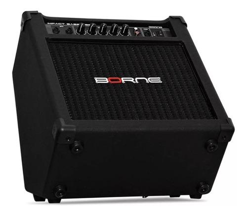 amplificador cubo contra baixo borne impact bass cb80 30w