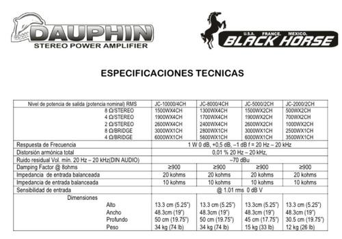 amplificador dauphin modelo jc-10000/4ch