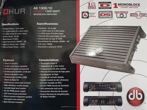 amplificador db drive clase d con woofers pioneer (2piezas)
