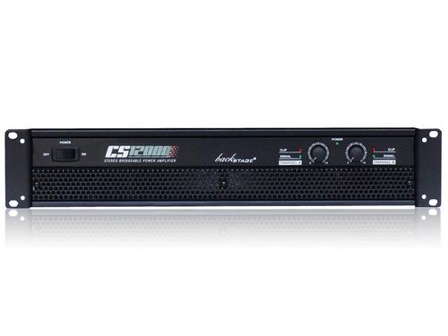amplificador de audio backstage cs 12000 2 canales 1200 watt