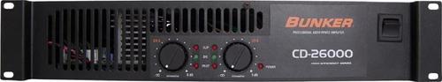 amplificador de audio bunker cd-26000 2 canales 2600 wts