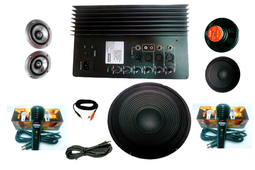 amplificador de audio de 3 vias ideal para rockolas