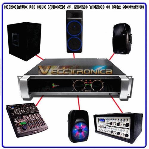 amplificador de audio profesional  c yamaha 1200w rms genial