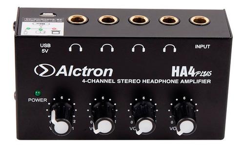 amplificador de auriculares alctron ha4 plus 4 canales