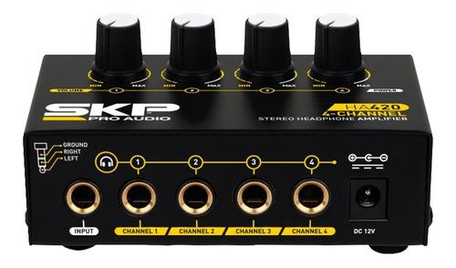 amplificador de auriculares skp ha420 4 canales