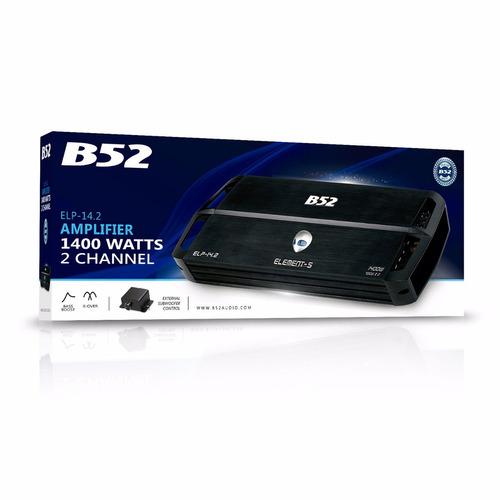 amplificador de auto -b52 elp 14.2- 101db