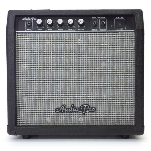 amplificador de bajo de 60w audiopro ba110 - negro