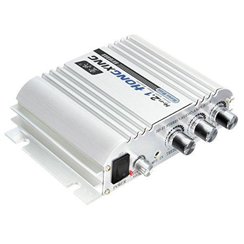 amplificador de coche, elegiant 300w 12v super bass mini am