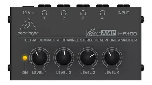 amplificador de fones power play ha400 behringer 110v