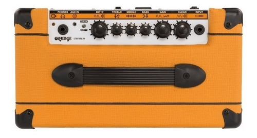 amplificador de guitarra orange crush 20 cr20