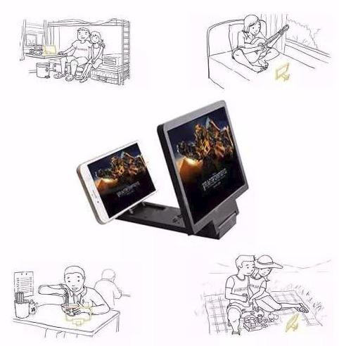 amplificador de pantalla 3d, (20 cm), para smartphone.