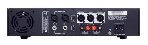 amplificador de potencia 800w 400 rms p/  4 bafles dancis