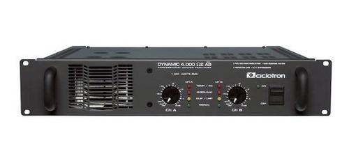 amplificador de potência 2ch 1000w dynamic 4000 ab ciclotron
