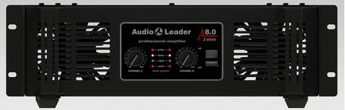 amplificador de potência audio leader al8.0 8.000 watts rms