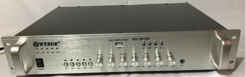 amplificador de sonido ambiental 5 zonas bluetooth usb fm