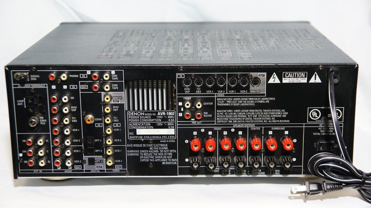 Amplificador Denon Avr 1802 115w 8ohm 5 1 Control Remoto