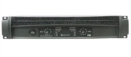 amplificador digital 2 canais 7200w 2 ohms next pro r6