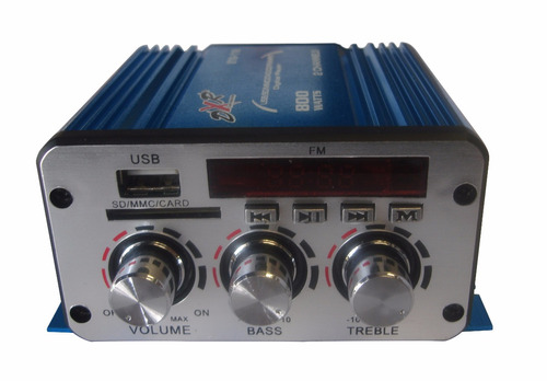 amplificador dxr 2c 800w radio fm con digital player 010/118
