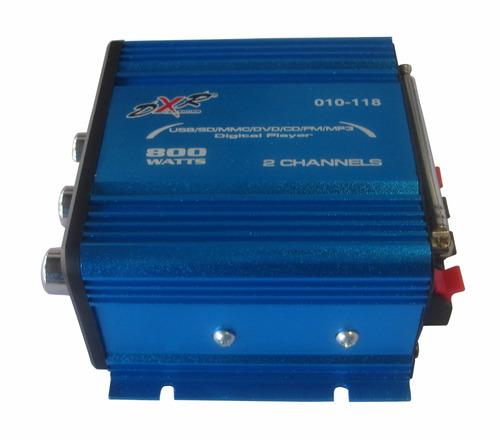 amplificador dxr 2c 800w radio fm con digital player 010/118