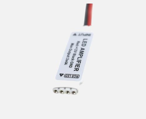 amplificador e repetidor sinal p/ fitas led rgb 5050 e 3528