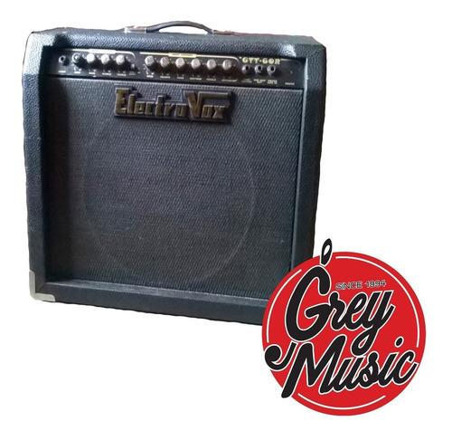 amplificador electrovox gtt60r p/ guitarra 60 w + footswitch