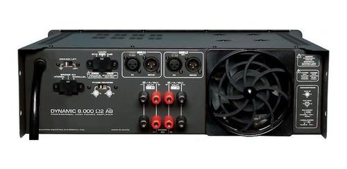 amplificador estéreo 2 canais 1000w dynamic 8000 - ciclotron