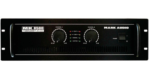 amplificador estéreo 2 canais 1500w mk 8500 - mark audio